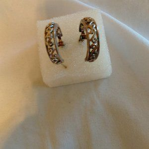 Hoop Earrings Thailand Sterling Silver Vintage